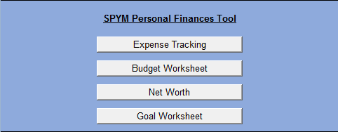 SPYM personal finances tool