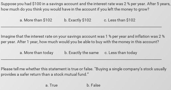 financial question
